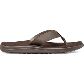 Teva Voya Flip Leather Sandals Men chocolate brown